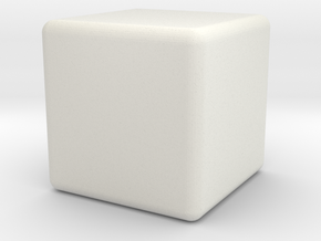 Micro 1x1x1 in White Natural Versatile Plastic