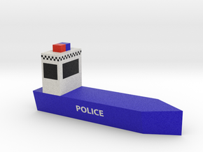 Police Boat in Full Color Sandstone