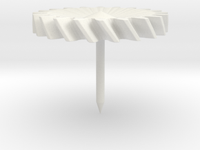 Simple Gear Tietack (fits standard backing) in White Natural Versatile Plastic