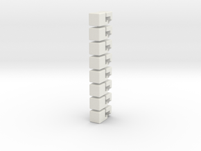 2x2x4 Rubiks Cube in White Natural Versatile Plastic