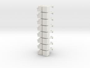 2x2x6 Rubiks Cube in White Natural Versatile Plastic