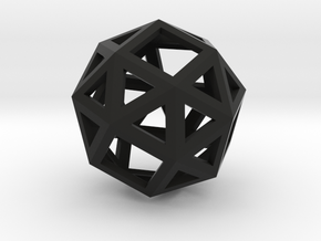Snub cube in Black Strong & Flexible