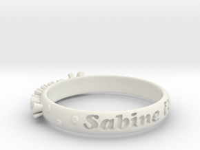 RingVersion1 in White Natural Versatile Plastic