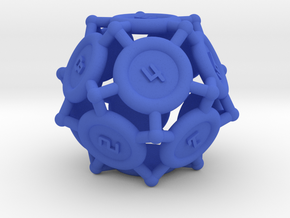 "d12 ""Spikes"" in Blue Processed Versatile Plastic"