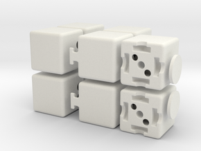 Plus 1x2x3 in White Natural Versatile Plastic