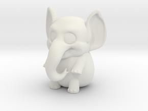 Elli the elephant in White Natural Versatile Plastic