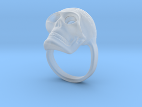 Skull ring size 50 / 5 3/8 (ask for other size) in Smooth Fine Detail Plastic