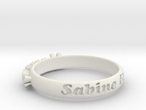 RingVersion1.2 in White Natural Versatile Plastic