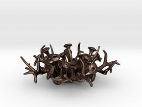 Coral Pendant 4cm in Matte Bronze Steel