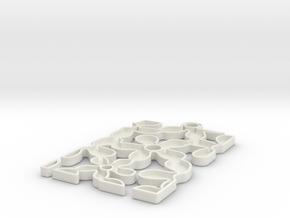 Flower Pendant in White Natural Versatile Plastic