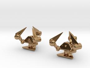 Tribot Cufflinks in Polished Brass