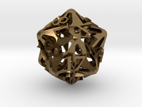 Pinwheel d20 in Natural Bronze