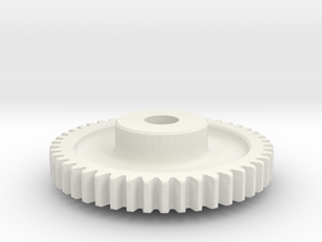 Mod 0.8 x 46T x 5w x 8 hub in White Strong & Flexible
