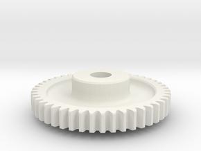 Mod 0.8 x 46T x 5w x 8 hub in White Natural Versatile Plastic