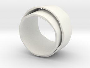 Dubbele ring in White Strong & Flexible