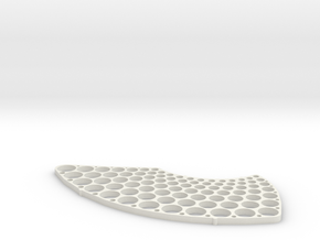 Metric Hole Test Pattern in White Natural Versatile Plastic