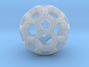 Soccer Ball Pendant in Smooth Fine Detail Plastic