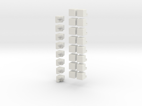 2/3rds cross cube in White Natural Versatile Plastic