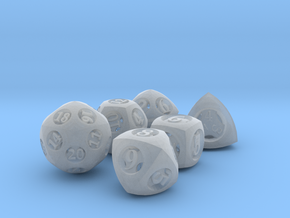 Overstuffed Dice Set in Smooth Fine Detail Plastic