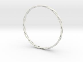 Twist Bangle in White Natural Versatile Plastic
