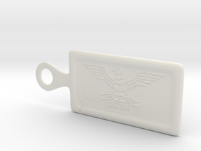Legion 13 key chain_small in White Natural Versatile Plastic