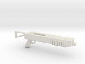 Shotgun for wargaming in White Natural Versatile Plastic
