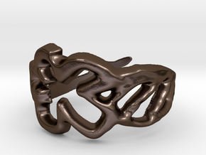 Draw your own ring in Polished Bronze Steel