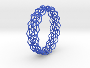 Gyroid Bracelets II in Blue Strong & Flexible Polished