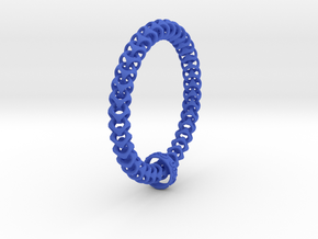 Cubichain Bracelet (Multiple sizes) in Blue Strong & Flexible Polished