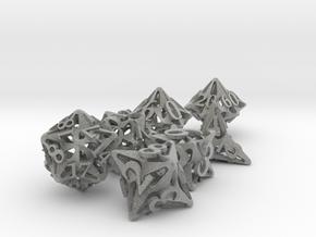 Pinwheel Dice Set with Decader in Metallic Plastic