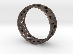 geometric ring 1 in Polished Bronzed Silver Steel