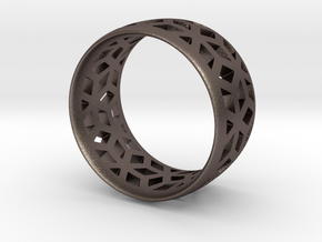 geometric ring 2 in Stainless Steel