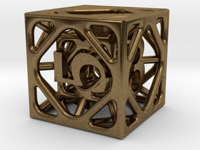 Cage d6 in Natural Bronze