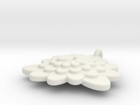 Spiral Flower 2 in White Natural Versatile Plastic