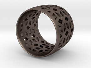 geometric ring 4 in Stainless Steel