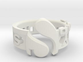 Singularity in White Natural Versatile Plastic