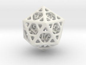 Cage d20 in White Natural Versatile Plastic