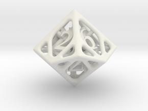 Cage d10 in White Natural Versatile Plastic