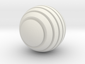 Kugel_2 in White Natural Versatile Plastic