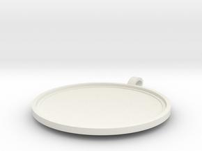 concave disk in White Natural Versatile Plastic