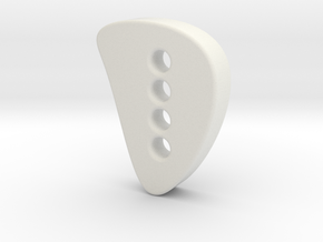 Designer button 3 in White Natural Versatile Plastic