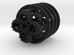 LED-holders for PET bottles in Black Strong & Flexible