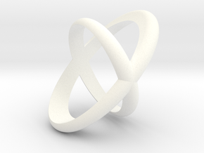 Cross Ring  in White Processed Versatile Plastic