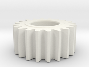 spur gear in White Natural Versatile Plastic