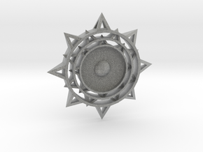 Sun Keychain m2 in Metallic Plastic
