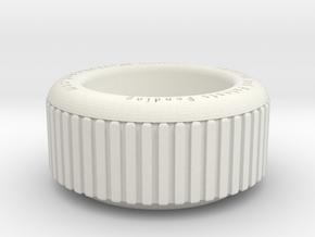 thumbscrew_RevB in White Natural Versatile Plastic