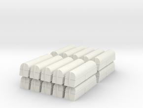 Milk Tank Car - Set of 20 - Z Scale in White Natural Versatile Plastic