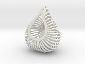 ENVIRON Cage Pendant in White Natural Versatile Plastic