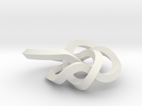small 8-19 torus knot in White Natural Versatile Plastic