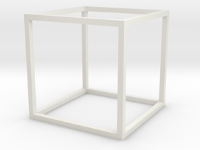 jaakko-cube in White Natural Versatile Plastic